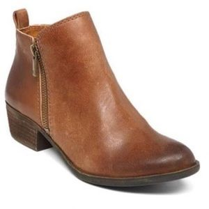 Lucky Brand Basel Leather Booties 8.5